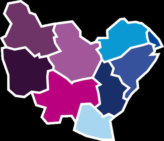 Carte de la Bourgogne Franche-Comté